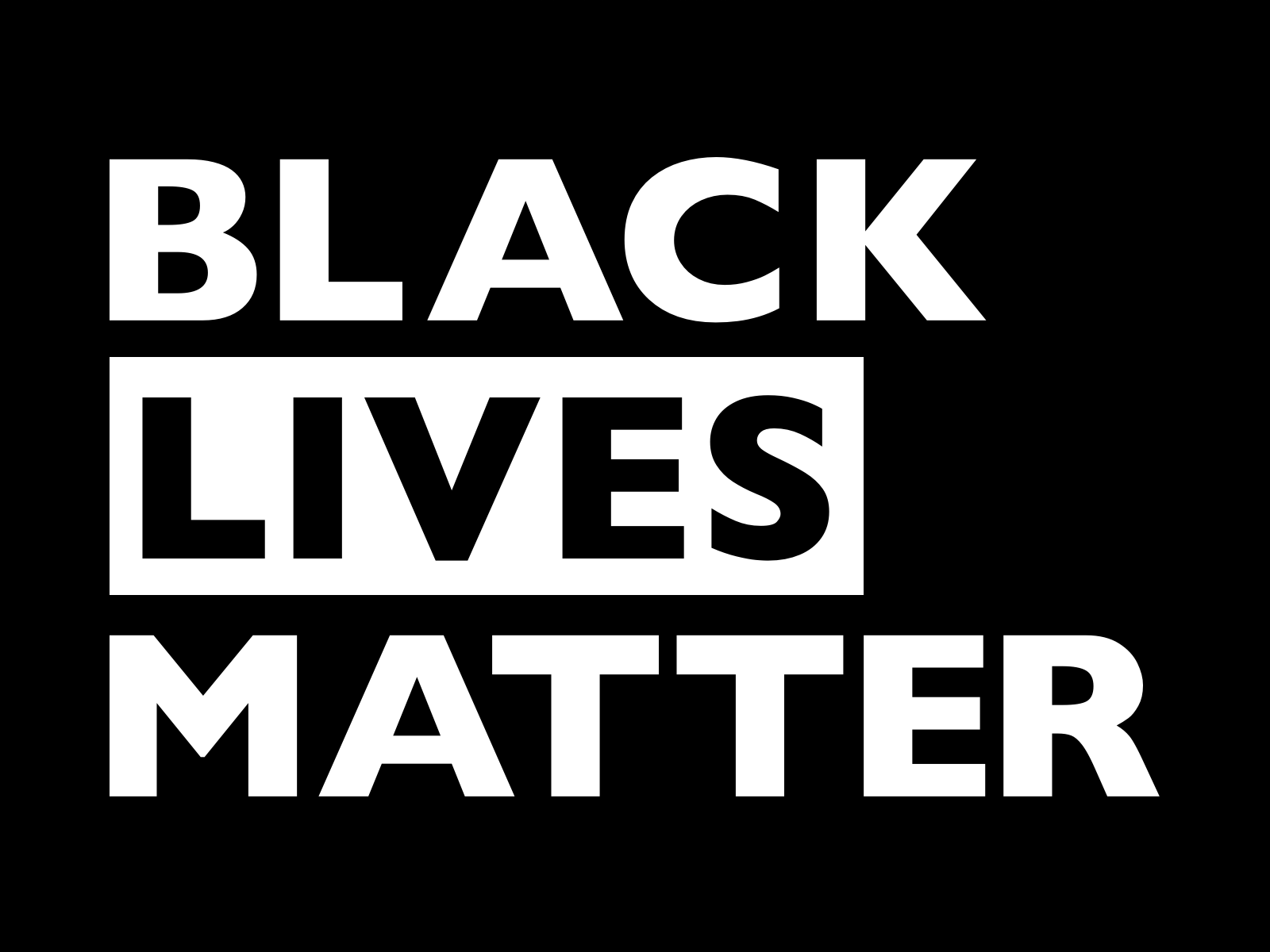 An image showing the words Black Lives Matter