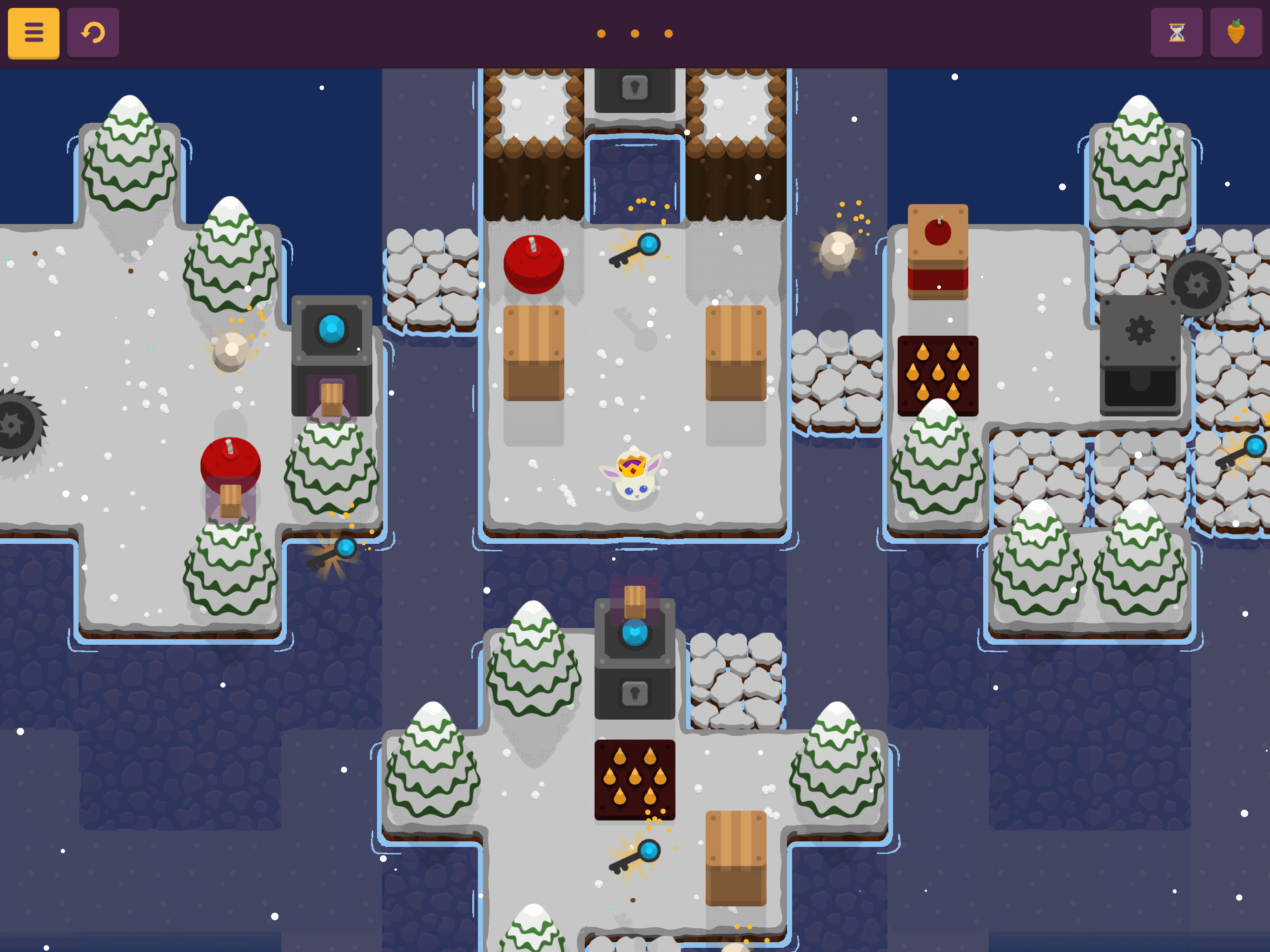 A screenshot of King Rabbit taken from someone playing the game on an iPad Pro